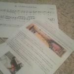 教室便りと『あったかいんだからぁ』の楽譜を作りました