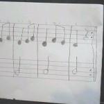 自分で作曲した曲も宿題~